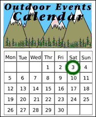 outdoor events calendar